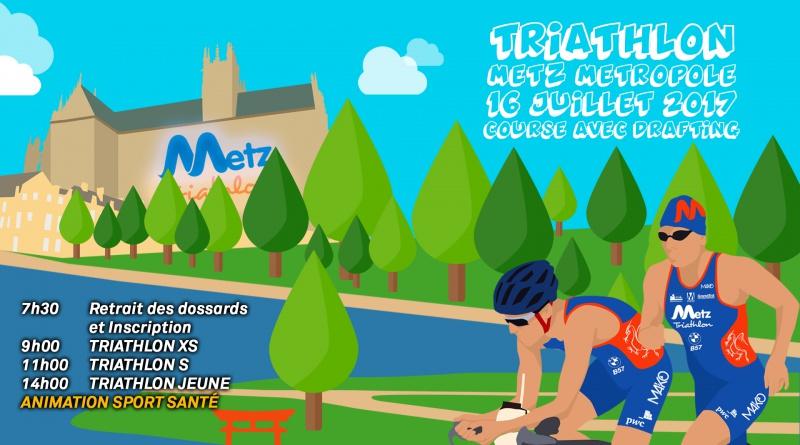 Triathlon Metz Métropole : Présentation parcours S
