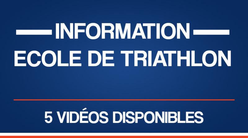 Information : ECOLE DE TRIATHLON