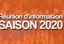Réunion d'information – Saison 2020